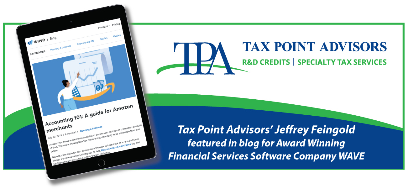 Tax Point Advisors' Jeffrey Feingold Featured in Blog for Award Winning Financial Services Software Company WAVE